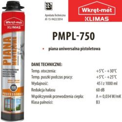 Pianka pistolet. 750 ml Professional